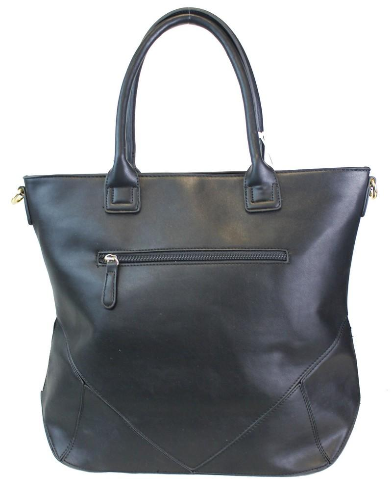 Oversized Fashion Satchel Black - Ace Handbag