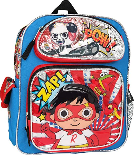 Ryan's World 16'' inches large Backpack - Ace Handbag