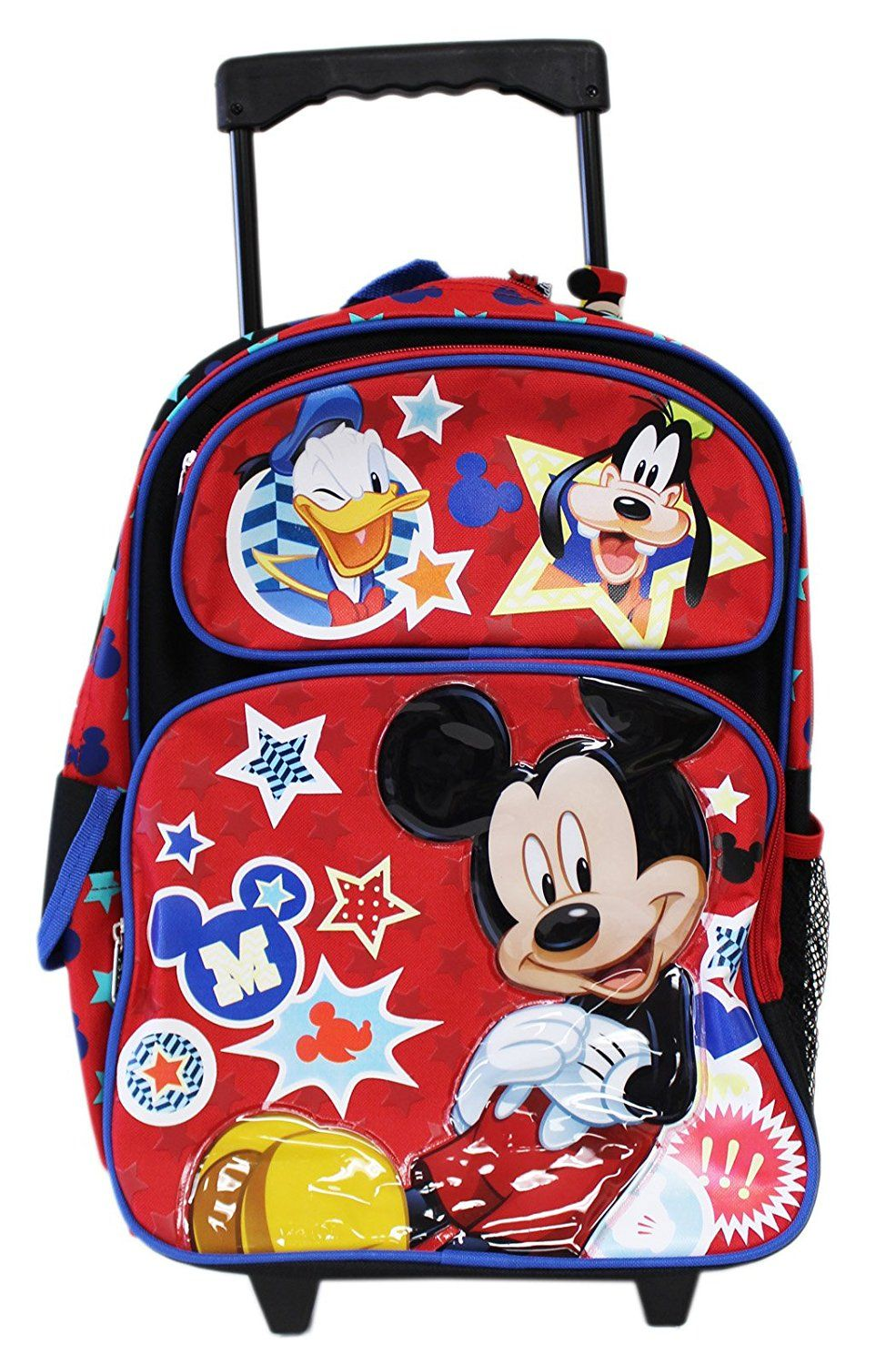"Mickey Mouse Small Toddler 12"" Rolling Backpack - Ace Handbag"