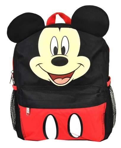 "Disney Mickey Mouse with Ear School Backpack 12"" Small Book Bag - Ace Handbag"