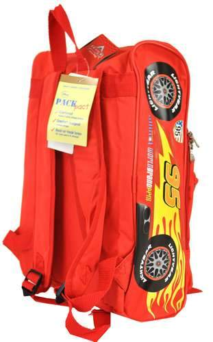 "Disney Cars 2 Lightning McQueen 16"" Large 3D Backpack Boys - Ace Handbag"