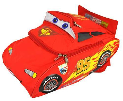"Disney Cars 2 Lightning McQueen 16"" Large 3D Backpack Boys - Ace Trading Co."