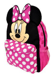 "Disney Minnie Mouse with Ear School Backpack 12"" Small Book Bag Girls - Ace Trading Co."