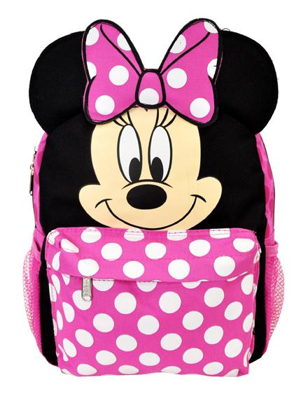 "Disney Minnie Mouse with Ear School Backpack 12"" Small Book Bag Girls - Ace Handbag"