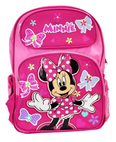 "Large 16"" Disney Minnie Mouse Backpack - Daisy Salon Day Girls School Book Bag - Ace Handbag"