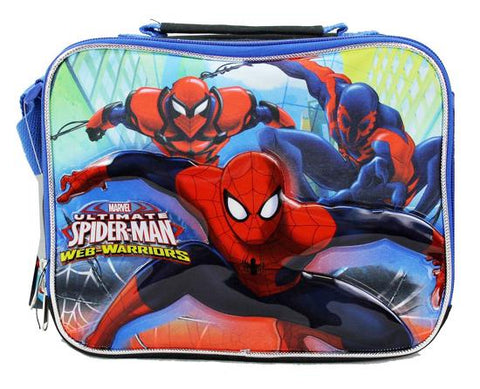Ultimate Spiderman Marvel Boys School Insulated Black Lunch Box - Ace Trading Co.