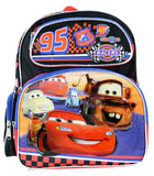 "Disney Cars Neon Lights Boys 12"" Small Backpack for Toddlers - Ace Trading Co."