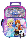 "Disney Frozen Elsa & Anna Large 16"" Rolling Backpack Roller School Bag - Ace Trading Co."
