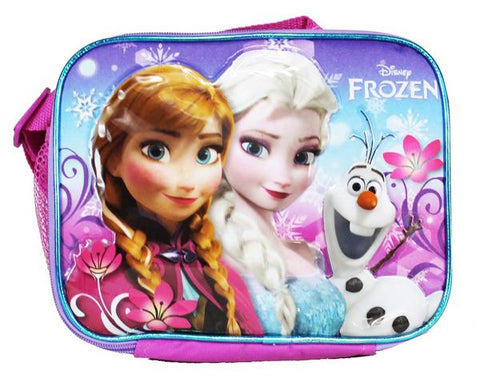Frozen Anna Elsa & Olaf Family Forever Insulated Lunch Bag School Pink - Ace Trading Co.