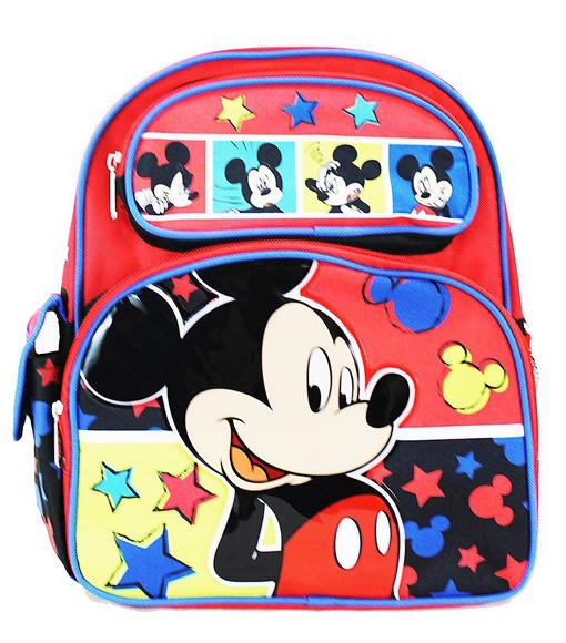 "Disney Mickey Mouse 12"" Backpack - Goofy Friend Boys Red - Ace Handbag"