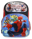 "Unltimate Spider Man 16"" Large Backpack Swing Outline - Ace Trading Co."