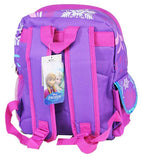 "Disney Frozen 12"" School Backpack Elsa Anna Olaf Small Bag Sunflowers Purple - Ace Trading Co."