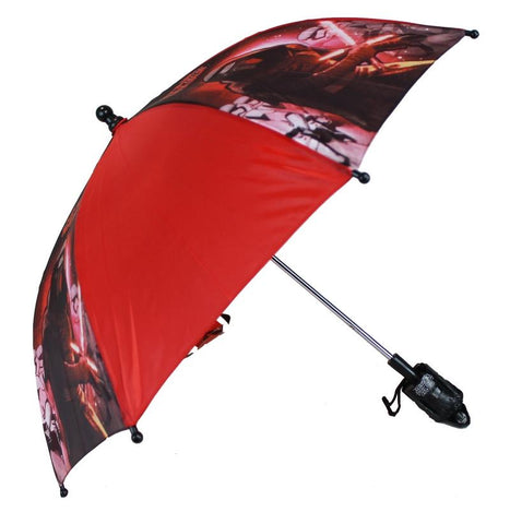 Star Wars 7 The Force Awakens Kids Umbrella with 3D Kylo Ren Figure Handle - Ace Trading Co.