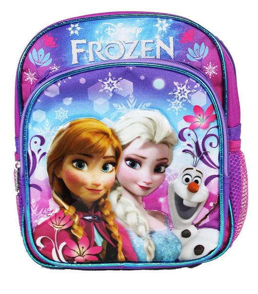 "Disney Frozen Snowflakes 10"" Mini Baby Girls Backpack - Ace Handbag"