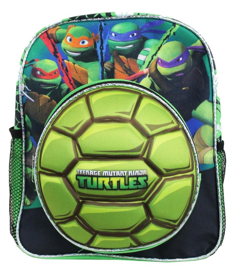 "Teenage Mutant Ninja Turtles 12"" SMALL Toddler Shell Backpack book bag TMNT - Ace Handbag"