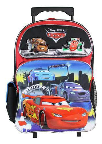 "Disney Pixar Cars 16"" Large Rolling School Backpack - Ace Trading Co."