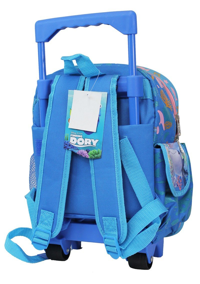 "Disney Finding Dory Kids Small 12"" Rolling Backpack - Ace Handbag"