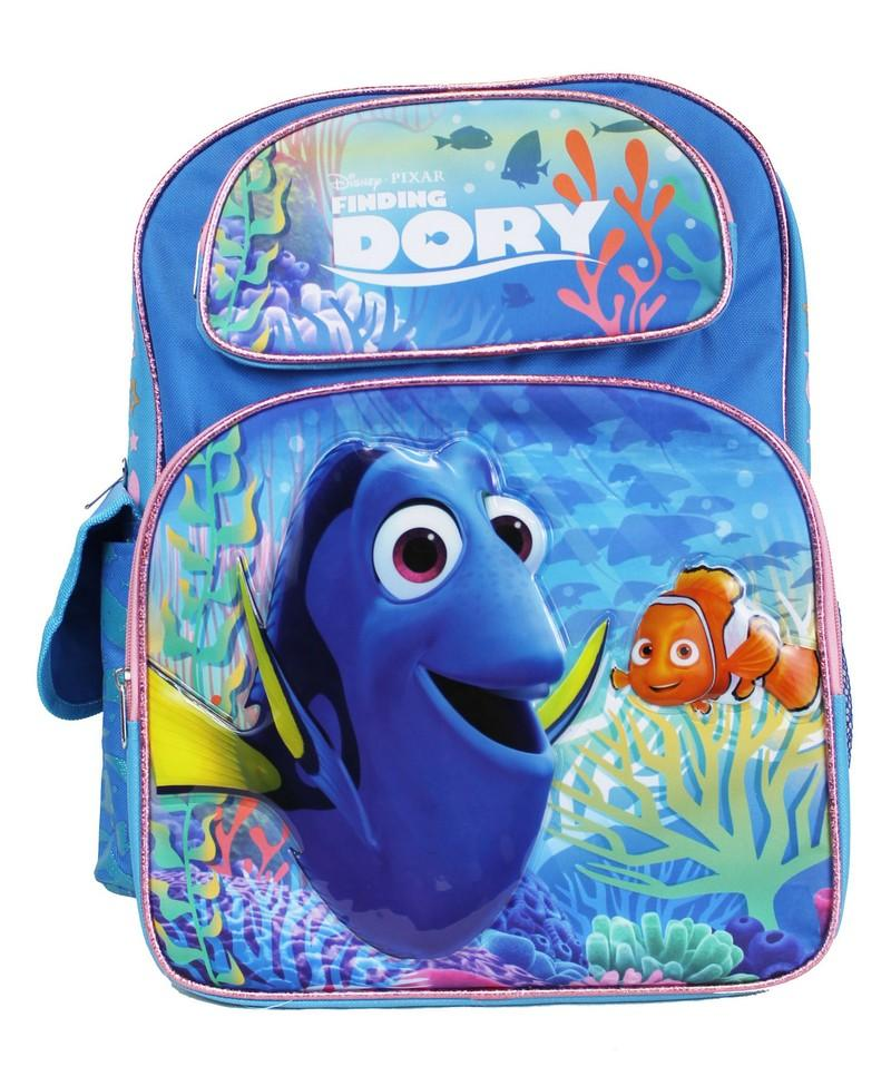 "Disney Finding Dory Large 16"" Large Backpack Kids School - Ace Handbag"