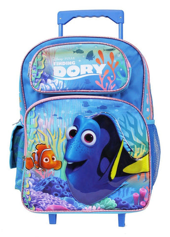 "Disney Pixar Finding Dory 16"" Large Rolling Backpack - Ace Trading Co."