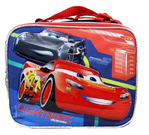 Disney Cars Insulated Lunch Bag - Racers Boys School Snack Box - Ace Trading Co.
