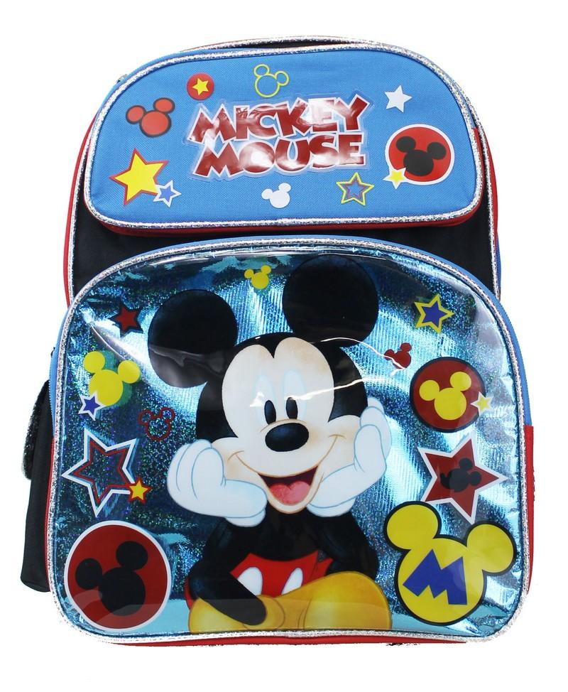 "Disney Mickey Mouse 16"" Large School Backpack - Mickey Star - Ace Handbag"