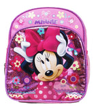 "Disney Minnie Mouse Backpack - Pink Bow 10"" Mini Girls School Bag - Ace Trading Co."