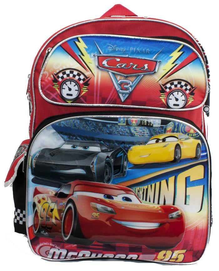 "Disney Cars 16"" Backpack - Ace Handbag"