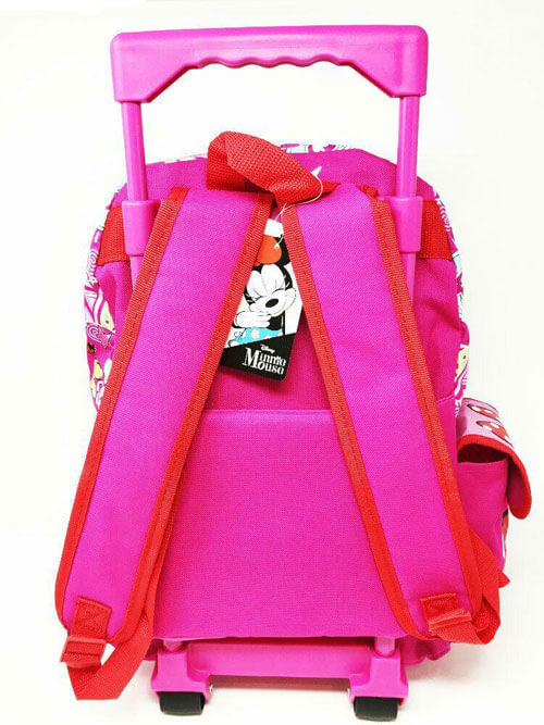 "Disney Minnie Mouse  16"" Large Rolling Backpack - Ace Handbag"