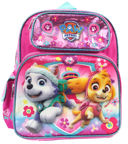 "Paw Patrol School Backpack 12"" Small Girls Book Bag"