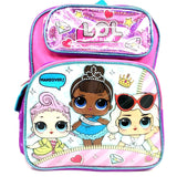 "L.O.L Surprise! Small Girs Backpack 12"" Pink - Ace Trading Co."