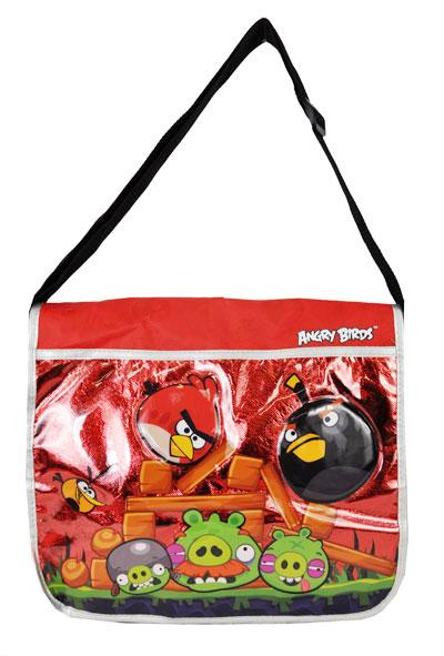 Licensed Rovio Angry Birds Messenger Shoulder Bag Metallic Red - Ace Handbag