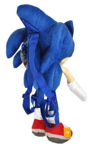 GE Animation Blue Sonic 20 Inch Plush Backpack Doll - Ace Handbag