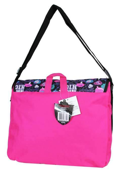 Monster High Girls Large Shoulder Messenger Bag for School with Brick Design - Ace Handbag