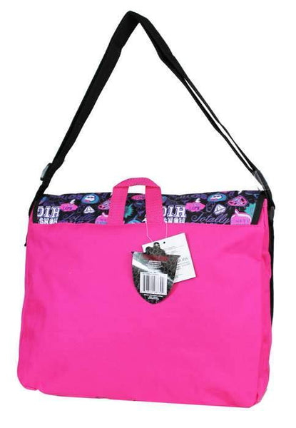 Monster High Girls Large Shoulder Messenger Bag for School with Brick Design - Ace Trading Co.