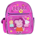 "Nickelodeon Peppa Pig Pink 10"" Mini Toddlers Backpack - Ace Trading Co."