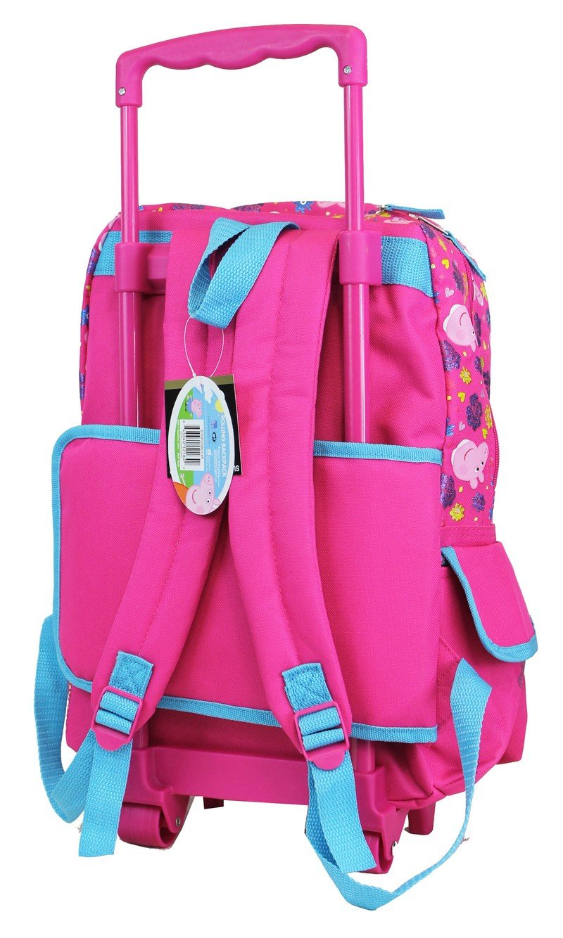 Peppa Pig Candy-suzy Large School Rolling Backpack Girls - Ace Handbag