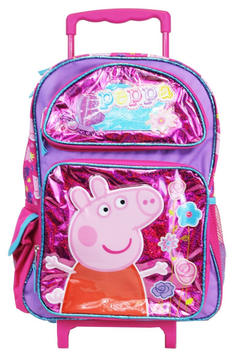 Peppa Pig Candy Suzy Large School Rolling Backpack Girls Ace Handbag