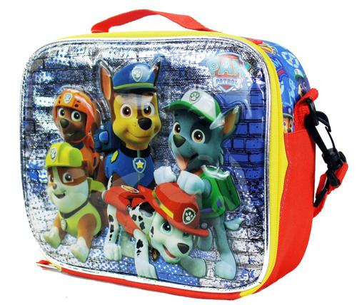 Nickelodeon Paw Patrol insulated School Lunch Box Bag Pail Chase Rocky Zuma - Ace Handbag