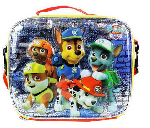 Nickelodeon Paw Patrol insulated School Lunch Box Bag Pail Chase Rocky Zuma - Ace Trading Co.