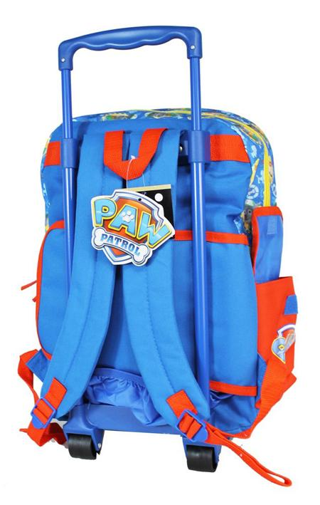 "Nickelodeon Paw Patrol Pup Squad Boys 16"" Large School Rolling Backpack - Ace Handbag"