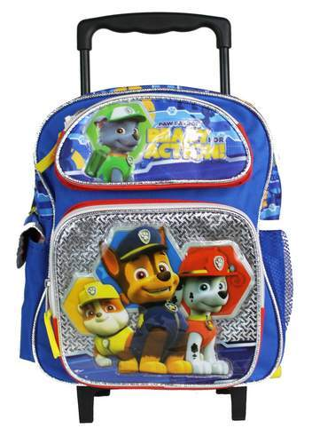 NEW Nickelodeon Paw Patrol 12/' Rolling Small School Backpack