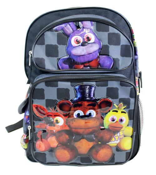 "Five Nights at Freddy 16"" Large School Backpack - Ace Handbag"