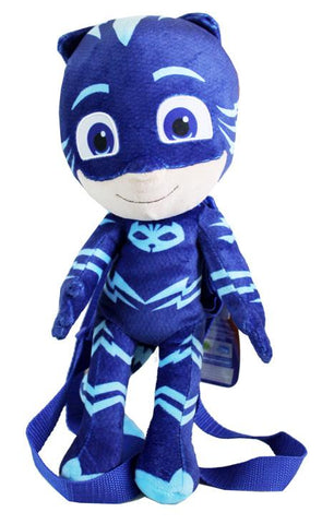 PJ Masks Catboy Plush Doll Backpack Soft Stuffed Tou Costume Bag Blue Mask - Ace Trading Co.