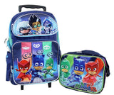"Disney PJ Masks 16"" Large Rolling Backpack Set - Ace Trading Co."