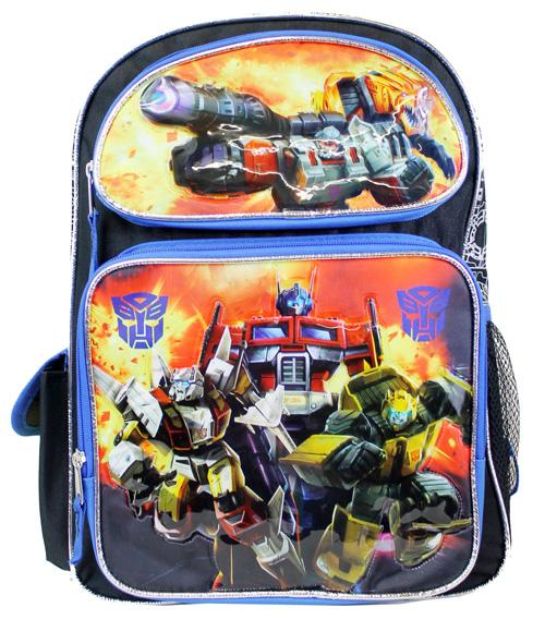 "Transformers 16"" Large Backpack Optimus Prime Bumblebe SET - Ace Handbag"