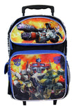 "Transformers Autobots Boys 16"" Large School Rolling Backpack Bag - Ace Trading Co."