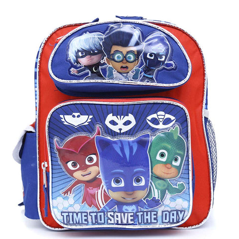 "PJ Masks 12"" School Backpack  Time To Save The Day"