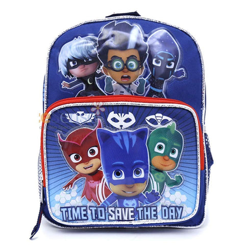 "PJ Masks Catboy Gekko Owlette Toddler Mini 10"" Backpack"