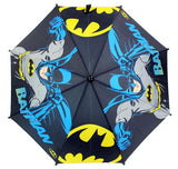DC Comics Bat Man Kids Umbrella with Bat Logo and 3D Mold Figure Handle - Ace Trading Co.