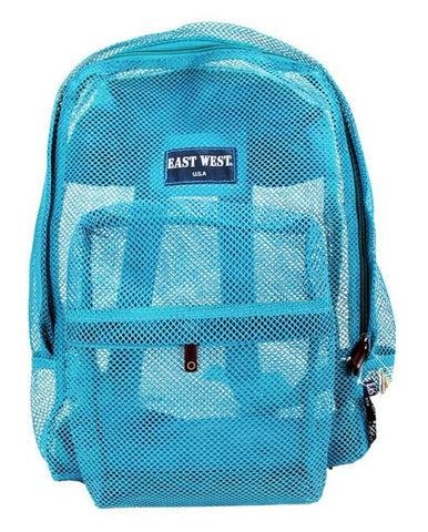 "East West See Through 17"" Large  Mesh School Backpack Mint - Ace Trading Co."